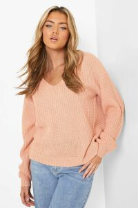 Womens Crop Twist Jumper - Pink - M/L, Pink