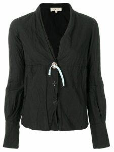 Romeo Gigli Pre-Owned v-neck shirt - Black