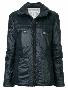 Chanel Pre-Owned multi-pockets padded jacket - Blue