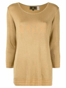 Fendi Pre-Owned logo jacquard jumper - Yellow