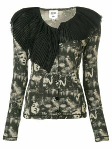 Jean Paul Gaultier Pre-Owned faces printed cardigan - Black