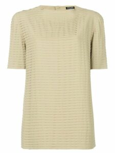 Giorgio Armani Pre-Owned pleated shortsleeved blouse - NEUTRALS