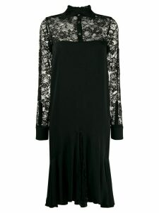Romeo Gigli Pre-Owned 1997 lace panel dress - Black