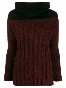 Romeo Gigli Pre-Owned 1990s cowl neck fitted jumper - Red