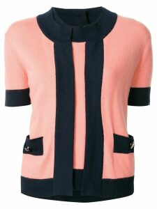 Chanel Pre-Owned two set CC button ensemble cardigan tops - PINK