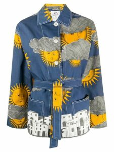 Fornasetti Pre-Owned 2000s weather print jacket - Blue
