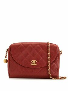 Chanel Pre-Owned 1995 quilted CC shoulder bag - Red
