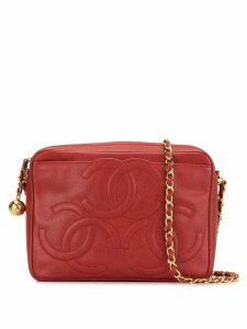 Chanel Pre-Owned 1995 Triple CC Stitch shoulder bag - Red
