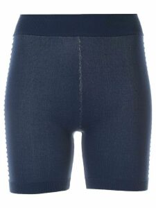 Nagnata Bodhi side stripe biker shorts - Blue