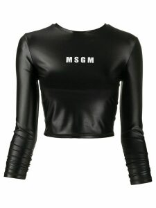 MSGM long-sleeved performance top - Black