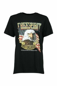 Womens Eagle Print T-Shirt - Black - S, Black