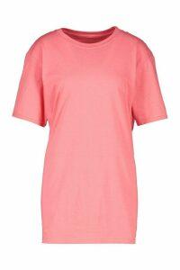 Womens Basic Oversized T-Shirt - Orange - M, Orange