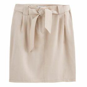Tie-Waist Pencil Skirt