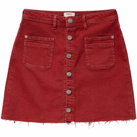 Short Buttoned Skirt in Cotton Mix