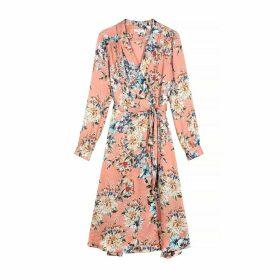 Adina Wrapover Dress in Floral Print