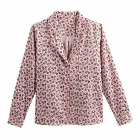 Floral Print Cotton Shirt with Tailored Collar