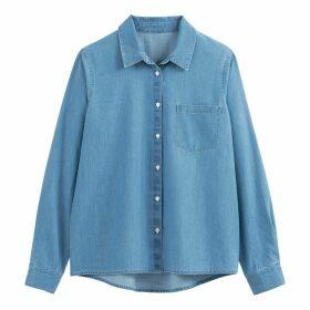 Cotton Long-Sleeved Denim Shirt
