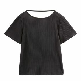 Plissé Scoop Back T-Shirt