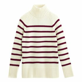 Breton Striped Chunky Jumper with High Neck