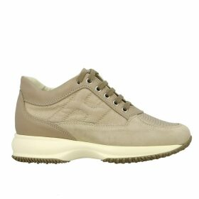 Hogan Sneakers Interactive Hogan Sneakers In Suede And Canvas With Rounded H