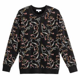 Chain Print Sweatshirt in Cotton Mix