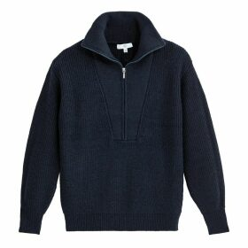 Half-Zip Trucker Jumper