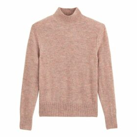 Textured High Neck Jumper in Fine Knit