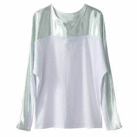 Metallic Dual Fabric T-Shirt