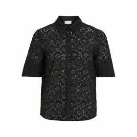 Embroidered Short-Sleeved Blouse