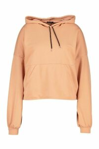 Womens Plus Seam Detail Hoodie - Orange - 26, Orange