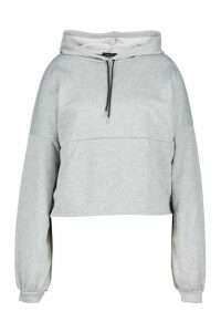 Womens Plus Seam Detail Hoodie - Grey - 16, Grey