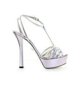 Grey Mer Violet Lia Lux Mix Platform Sandal