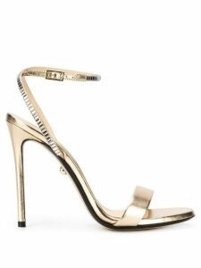 Alevì metallic 120mm open toe sandals - GOLD
