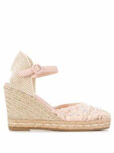 Le Silla crystal-embellished wedge sandals - PINK