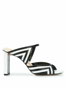 Alexandre Birman geometric pattern mules - White