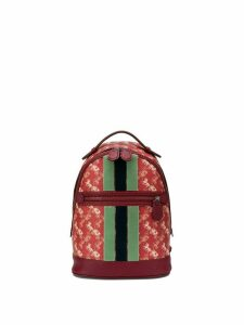 Coach monogram print backpack - Red