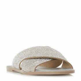 Dune Nevadaa Cross Diamante Strap Sandals