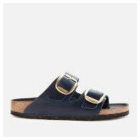 Birkenstock Women's Arizona Big Buckle Oiled Leather Double Strap Sandals - Blue