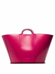 Marni patent-leather tote bag - PINK