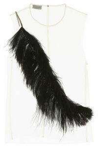 Dries Van Noten China Top With Feathers