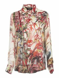 Dsquared2 Shirt Silk Monkey Printing