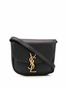 Saint Laurent logo-plaque shoulder bag - Black