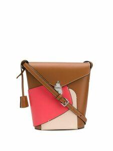 Calvin Klein panelled logo shoulder bag - PINK