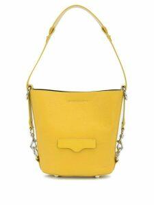 Rebecca Minkoff Utility embossed logo detail bucket bag - Yellow