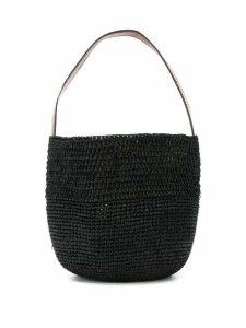 IBELIV woven basket tote bag - Black