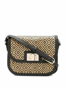 Furla 1927 woven crossbody bag - NEUTRALS