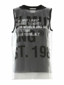 Helmut Lang Sleveless Printed Top