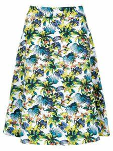 Amir Slama printed a-line skirt - White