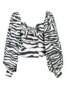 The Attico Zebra Print Blouse