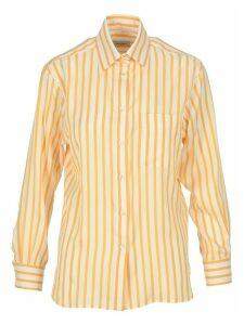 Salvatore Ferragamo Striped Silk Shirt